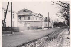 Skrzyżowanie 29 Pułku Piechoty z ulicą Wrocławską. W tle pierwszy budynek komory celnej
