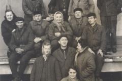 Pracownicy Agromy przy rampie kolejowej